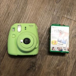 Instax Mini 9 in Green with Film
